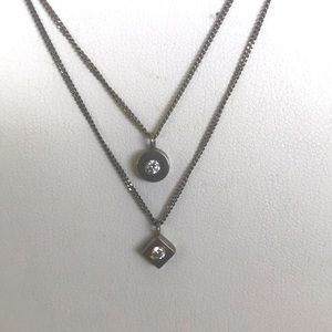 925 Sterling Silver Pair of Layered Necklaces